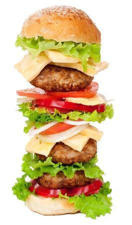 burger on bun: Big hamburger Stock Photo