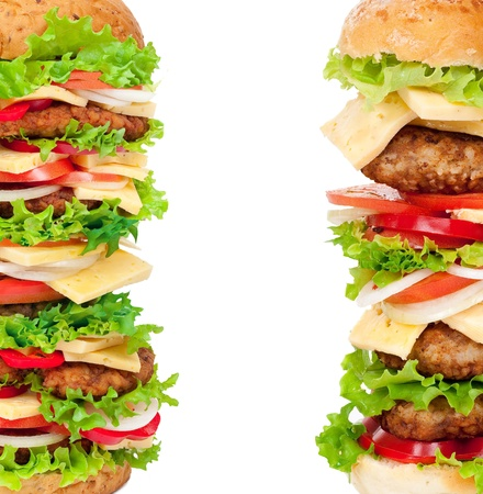 Big hamburgers Stock Photo