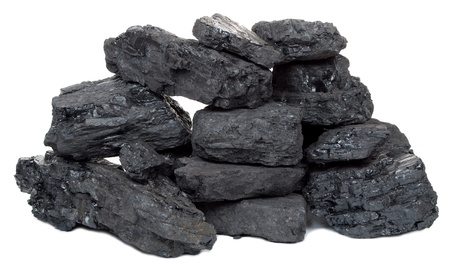 calorific: Coal stack Stock Photo