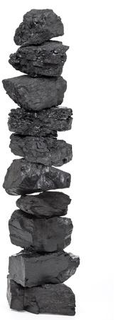carbone: Pile di carbone Archivio Fotografico