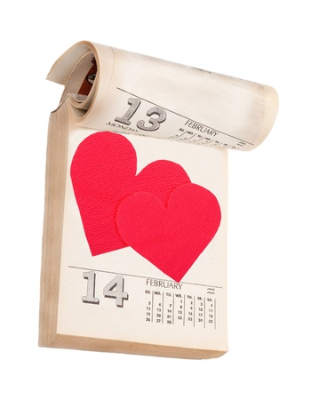 days of week: Valentines Day in calendar Stock Photo