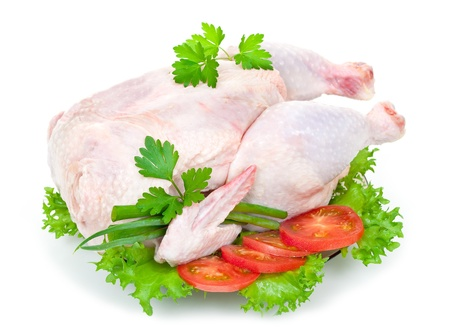 Raw chicken  photo