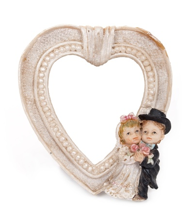 Antique frame valentine photo