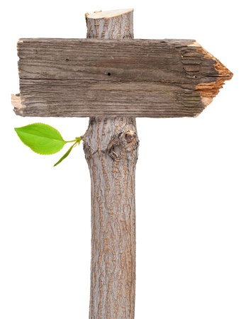 wooden post: Wooden sign  Stock Photo