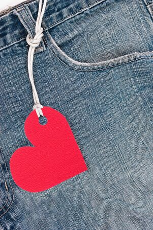 Jeans and red heart photo