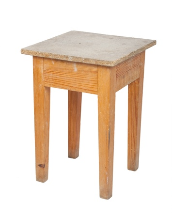 Wooden stool photo
