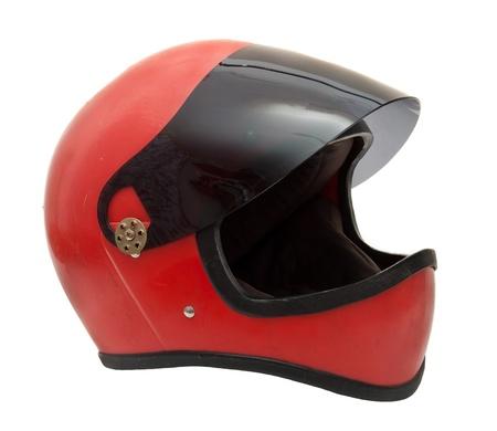 casco rojo: Casco rojo viejo