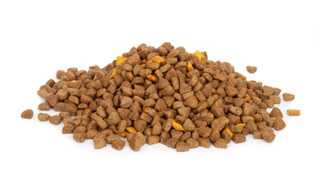 Dry dog food Stock Photo
