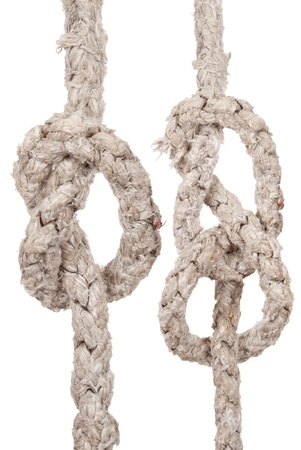 Ropes with knot photo
