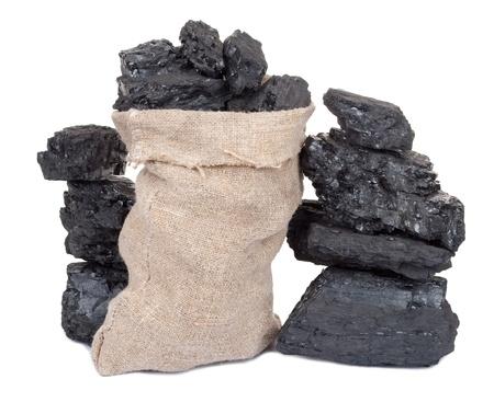 anthracite coal: Coal in sack