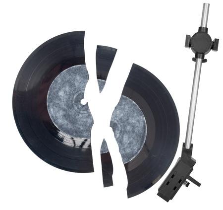 Needle head and broken vinyl