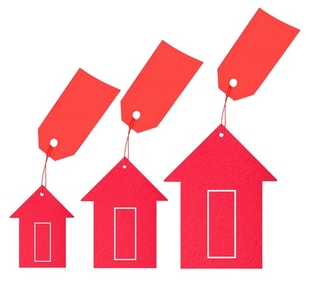depreciation: Housing market. Price drop Stock Photo