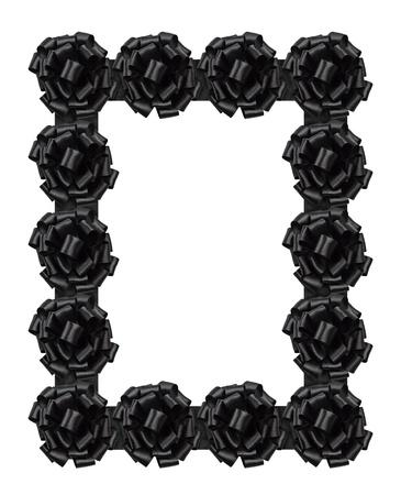 ruban noir: Cadre de funérailles Banque d'images