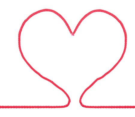 hilo rojo: Coraz�n cuerda forma