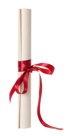doctorate: Graduation diploma scroll