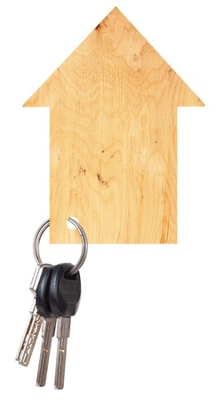 Wooden house with keys photo