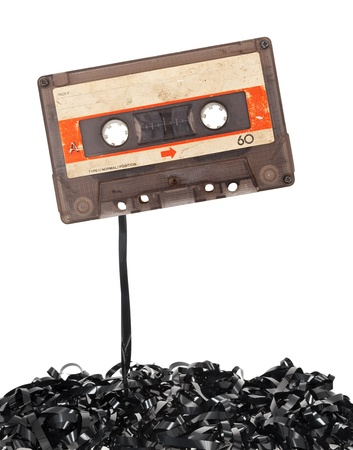 Audio tape cassette with subtracted out tape Stock Photo - 16177187