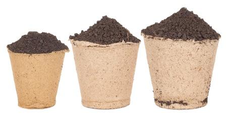 turf: Turf potten met grond