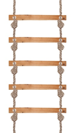 rope ladder: Rope ladder Stock Photo