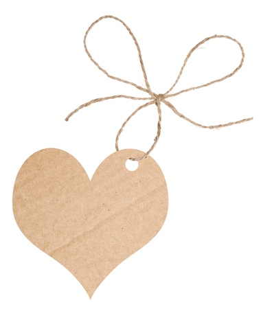 Cardboard heart with bow photo