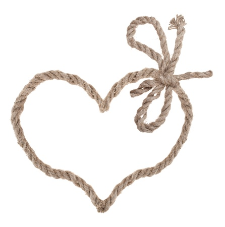 Heart shape rope photo