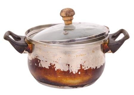 stockpot: Old pot Stock Photo