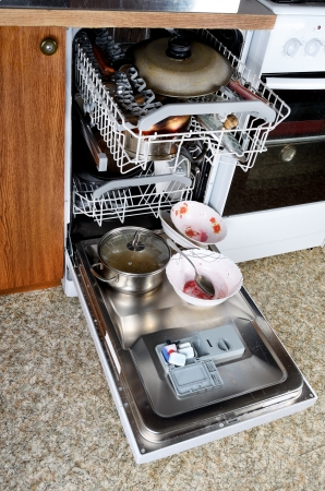 dishwasher: Dirty dishes in the dishwasher