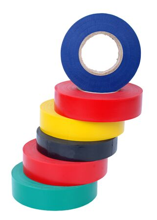 Multicolored insulating tapes photo