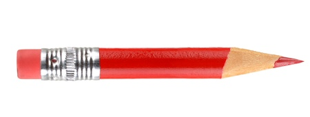 red pencil: Red pencil with eraser Stock Photo