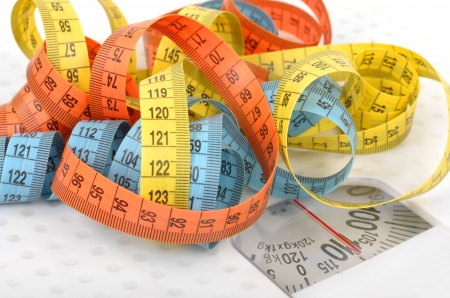 Measuring tapes on scales