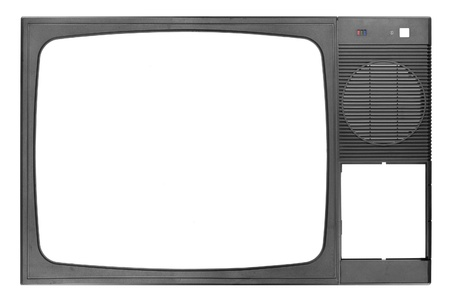 Front panel of the old TV photo