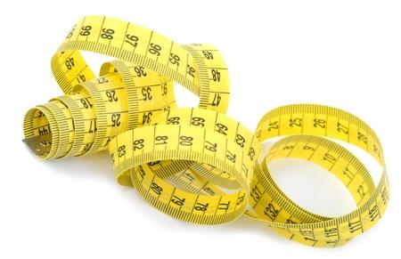 cintas metricas: Twisted cinta de medici?n amarilla