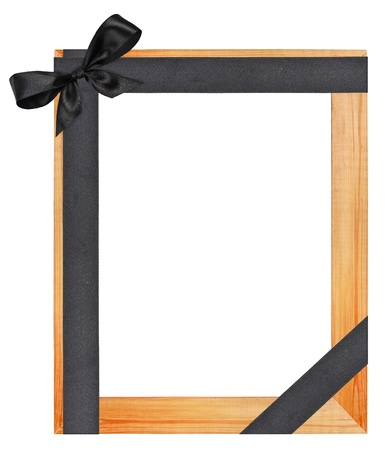 Funeral wooden frame photo
