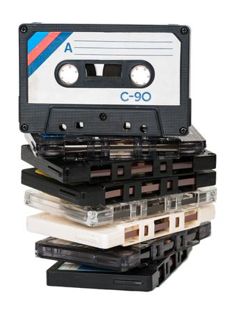 tape cassette: Audio cassette Stock Photo
