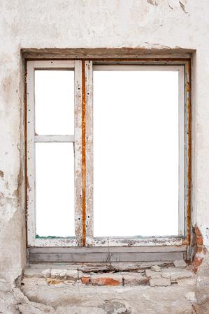 frame on wall: Empty parete in legno telaio della finestra Archivio Fotografico