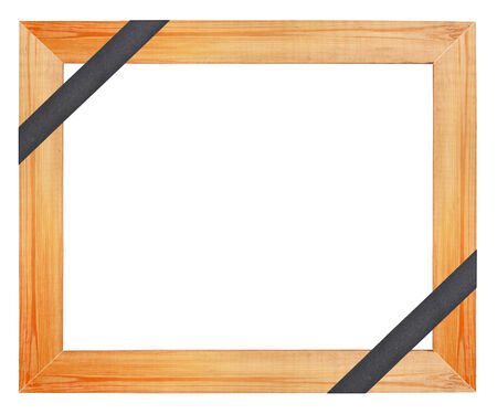 Wooden funeral frame photo