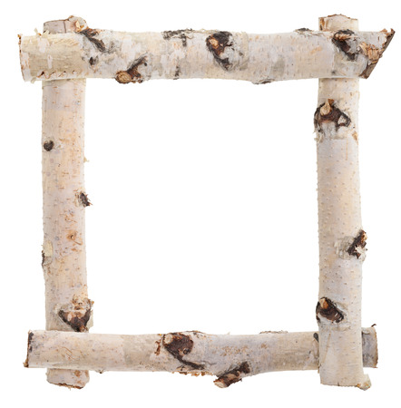 Frame of birch logs