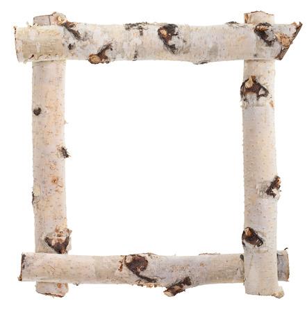 wood log: Frame of birch logs