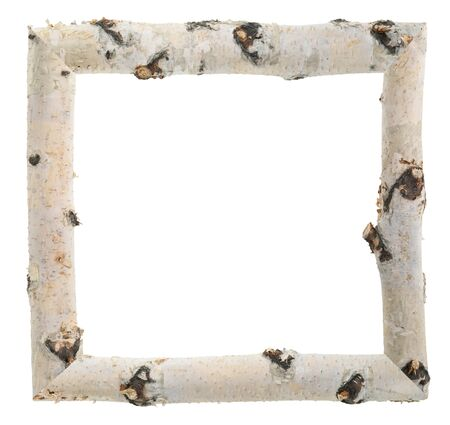 birch: Frame of birch logs
