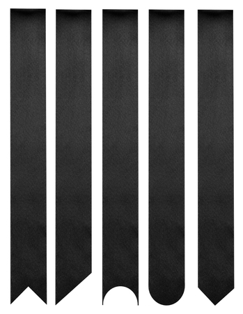 black satin: Black ribbons