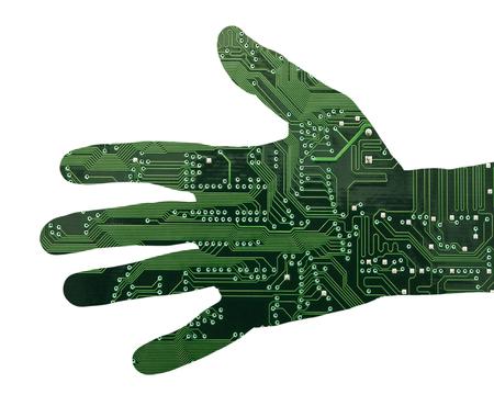 mano robotica: Mano robótica Foto de archivo