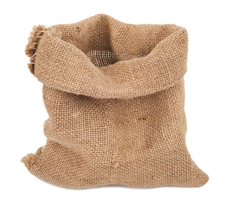 Empty burlap sack Stock Photo