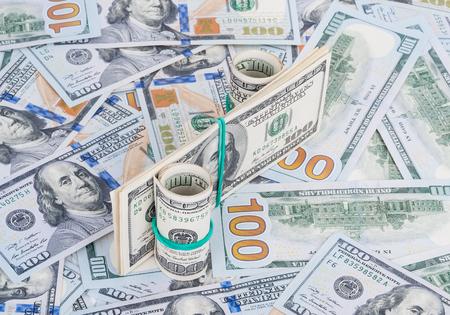 federal reserve: Percent symbol on money background