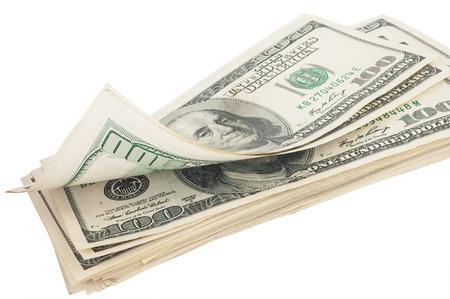 american money: Stack of money american hundred dollar bills Stock Photo