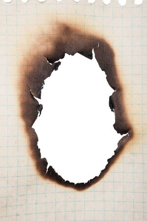 burnt: Paper with burnt hole
