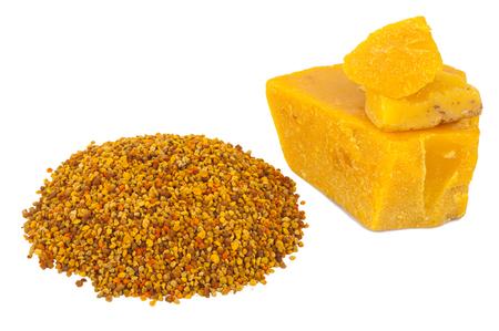 pollen: Bee pollen and wax Stock Photo