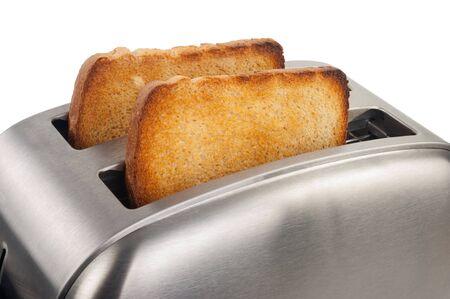 Broodrooster met brood Stockfoto