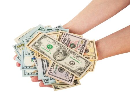 commercial activity: Hands with money