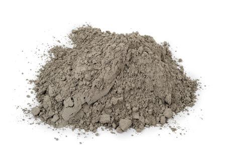 cemento: polvo de cemento gris Foto de archivo