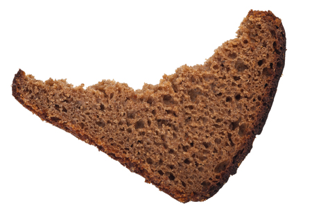 wheat toast: A piece of rye bread Stock Photo